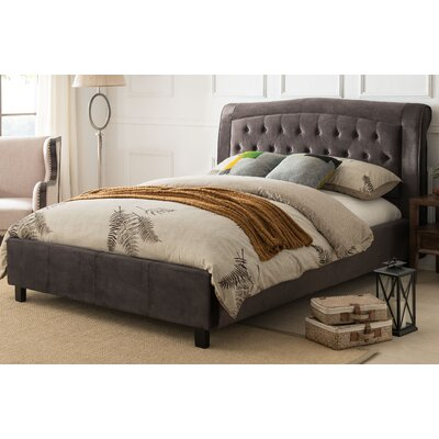 Nielson Upholstered Platform Bed Size: California King, Upholstery: Gray