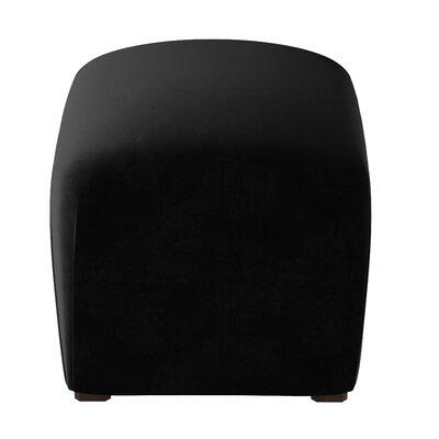 Recker Velvet Ottoman Color: Black