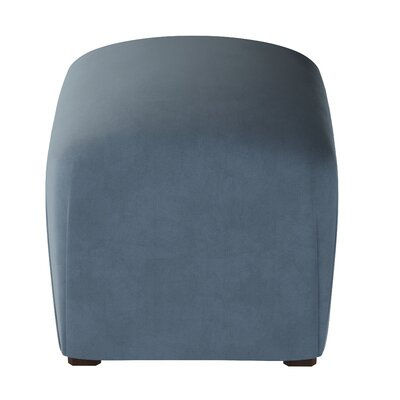 Recker Velvet Ottoman Color: Ocean