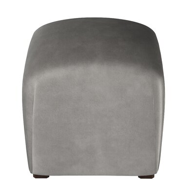 Recker Velvet Ottoman Color: Steel Gray