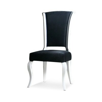 Maire Side Chair Upholstery: Black