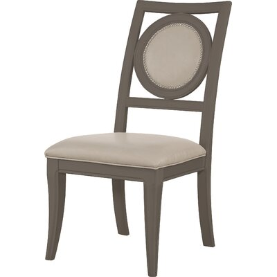 Ruiz Side Chair (Set of 2) Finish: Moonstone and Silver Accents