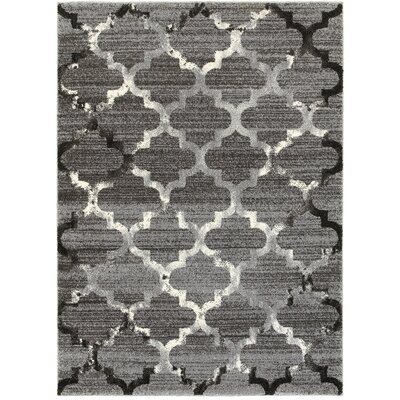 Galloway White/Light Gray Indoor Area Rug Rug Size: 9 x 12