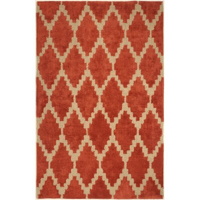 Furniture-Mercer41 Reinert Tajine Hand Tufted Orange Area Rug