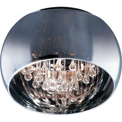 Heckart 5-Light Flush Mount Size: 8.75 H x 19.75 W
