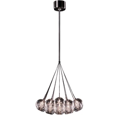 Darcie 19-Light Cluster Pendant Glass Color: Clear