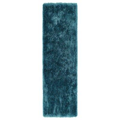 Caine Teal Area Rug Rug Size: Runner 23 x 8