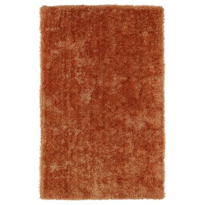 Caine Orange Area Rug Rug Size: 5 x 7