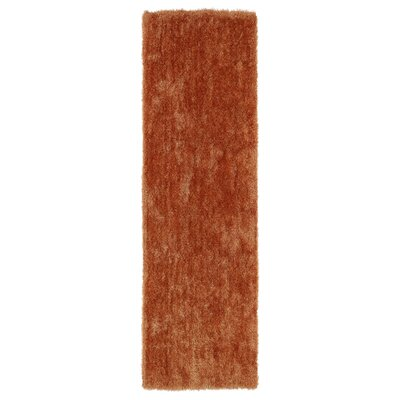 Caine Orange Area Rug Rug Size: Runner 23 x 8