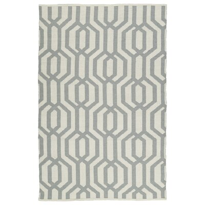 Camillei Cream/Gray Indoor/Outdoor Area Rug Rug Size: 9 x 12