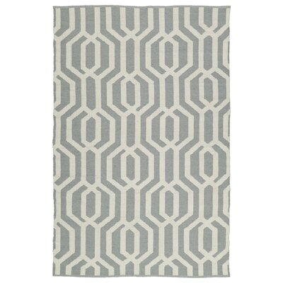 Redinger Gray/Cream Indoor/Outdoor Area Rug Rug Size: 9 x 12