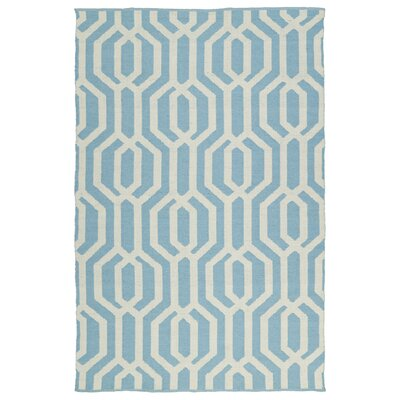 Camillei Spa/Cream Indoor/Outdoor Area Rug Rug Size: Rectangle 5 x 76
