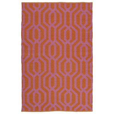 Redinger Orange/Pink Indoor/Outdoor Area Rug Rug Size: Runner 2 x 6