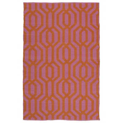 Camillei Pink/Orange Indoor/Outdoor Area Rug Rug Size: Rectangle 5 x 76