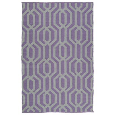 Camillei Lilac/Cream Indoor/Outdoor Area Rug Rug Size: 9 x 12