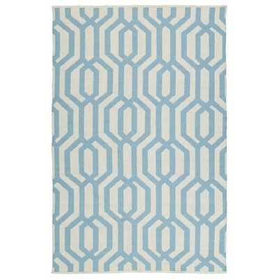 Redinger Cream/Spa Indoor/Outdoor Area Rug Rug Size: 5 x 76