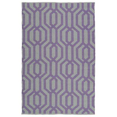 Redinger Gray/Lilac Indoor/Outdoor Area Rug Rug Size: 5 x 76