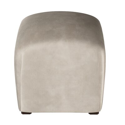 Houghton Suede Ottoman Color: Platinum