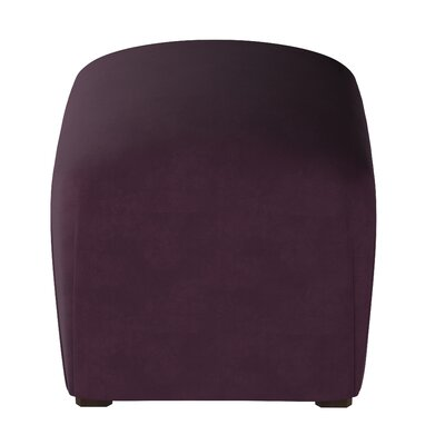 Houghton Suede Ottoman Color: Purple