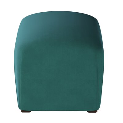 Houghton Suede Ottoman Color: Tidepool