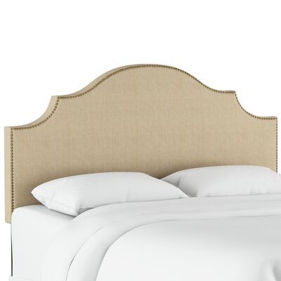 Eduard Nail Button Notched Upholstered Panel Headboard Size: Twin, Color: Patriot Jute