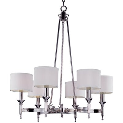 Devona 6-Light Metal Drum Chandelier