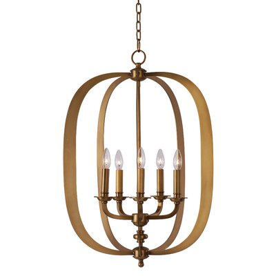 Devona 5-Light Pendant Finish: Natural Aged Brass