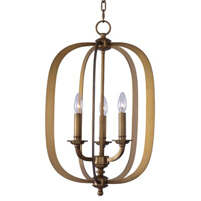 Sterling 3-Light Pendant Finish: Natural Aged Brass