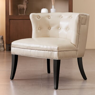 Connie Shelter Slipper Chair Upholstery: Ivory