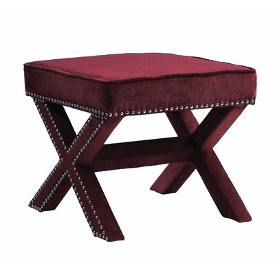 Reger Ottoman Upholstery: Wine Red