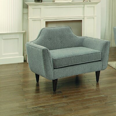 Ewing Chair and a Half Upholstery: Gray