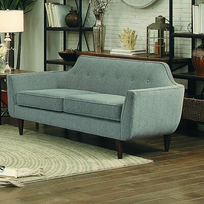 Ewing Loveseat Upholstery: Gray