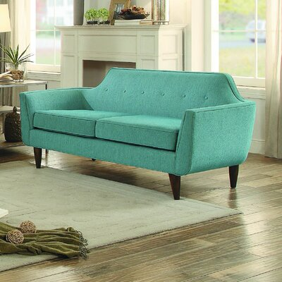 Reimers Loveseat Upholstery: Teal