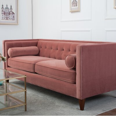 Harcourt Chesterfield Sofa Upholstery: Ash Rose