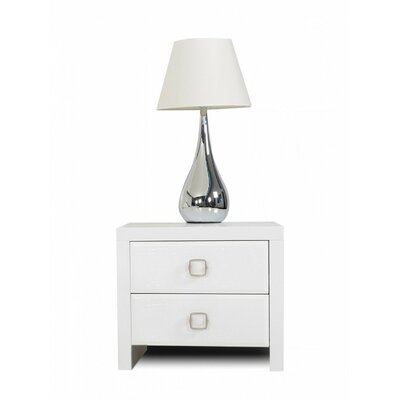 Janine 2 Drawer Nightstand Color: White