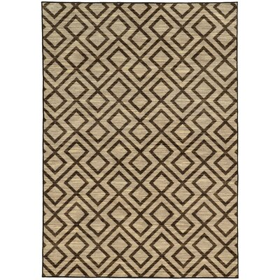 Abbas Geometric Beige/Brown Area Rug Rug Size: Rectangle 910 x 1210