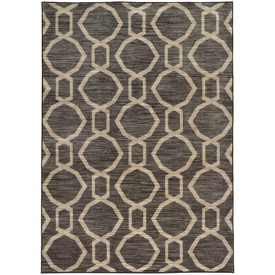 Reisman Geometric Grey/Beige Area Rug Rug Size: Rectangle 53 x 76