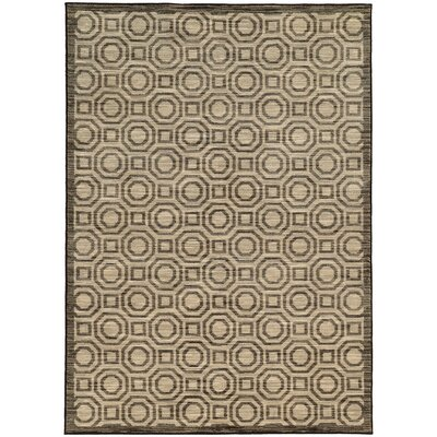 Abbas Geometric Charcoal/Grey Area Rug Rug Size: Rectangle 33 x 55