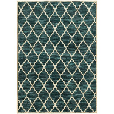 Reisman Green/Beige Area Rug Rug Size: Rectangle 53 x 76