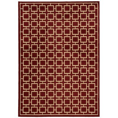Reiter Red/Beige Area Rug Rug Size: Rectangle 53 x 73