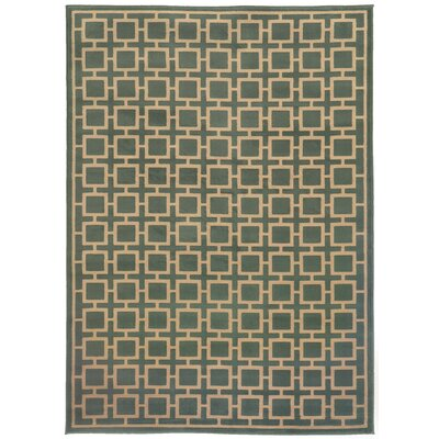Reiter Blue/Beige Area Rug Rug Size: Rectangle 33 x 55