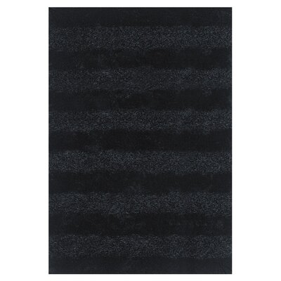 Reith Black Area Rug Rug Size: Rectangle 67 x 96