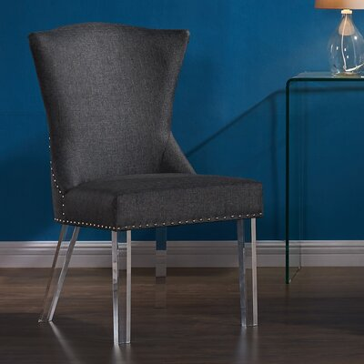 Asia Parsons Chair Upholstery: Charcoal