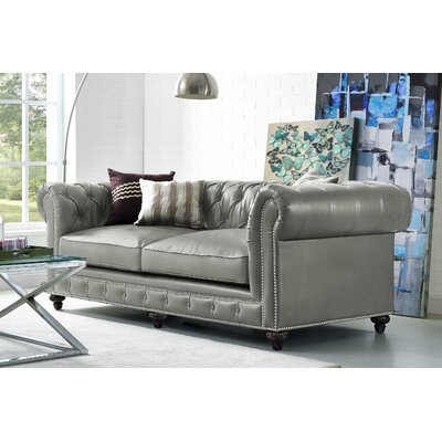 Cateline Leather Chesterfield Sofa