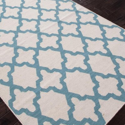Rickman Antique Geometric White Area Rug Rug Size: 36 x 56