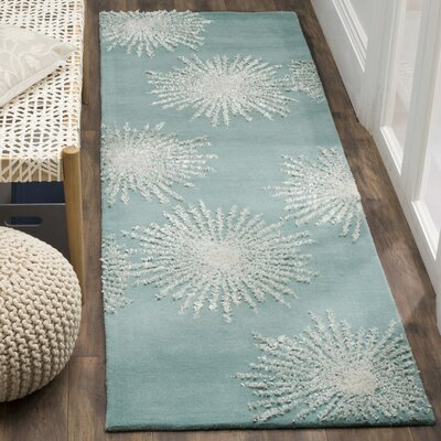 Bamba Hand-Tufted Green Area Rug Rug Size: 6 x 9