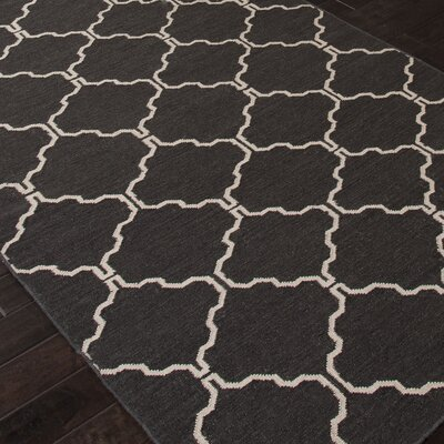 Wilder Moroccan Black/Ivory Area Rug Rug Size: Rectangle 5 x 8