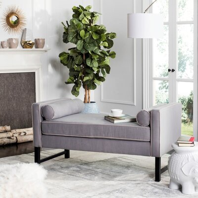 Randolph Settee Upholstery: Artic Gray/Taupe