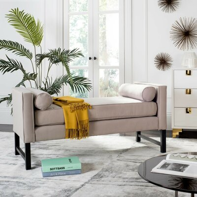 Randolph Settee Upholstery: Taupe