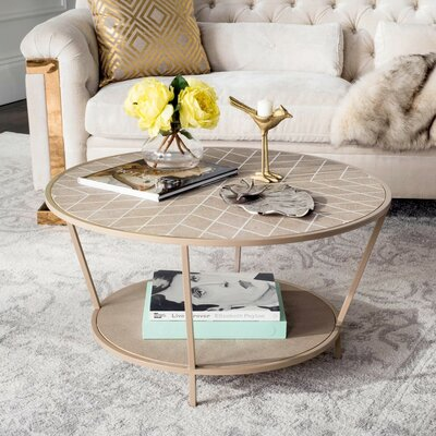 Cerium Coffee Table with Magazine Rack